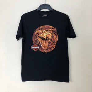 Men's HARLEY DAVIDSON T-Shirt L Black Snake
